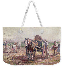 The Potato Pickers Weekender Tote Bag by Harry Fidler
