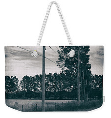 Weekender Tote Bag featuring the photograph The Power Lines  by Howard Salmon