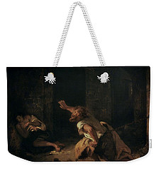 The Prisoner Of Chillon Weekender Tote Bag by Ferdinand Victor Eugene Delacroix