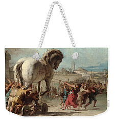 The Procession Of The Trojan Horse Into Troy Weekender Tote Bag