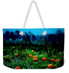 Weekender Tote Bag featuring the photograph The Pumpkin Patch by Lesa Fine