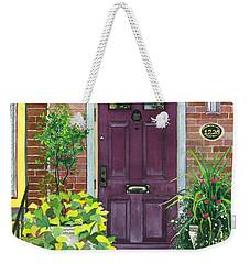 The Purple Door Weekender Tote Bag by Barbara Jewell