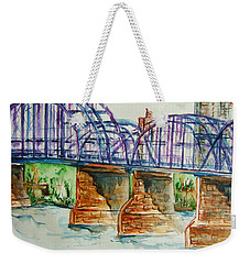 The Purple People Bridge Weekender Tote Bag