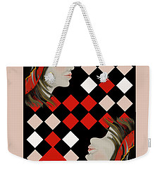 The Queen's Card In Pink Weekender Tote Bag