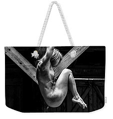 Weekender Tote Bag featuring the photograph The Rafter Ornament by Mez