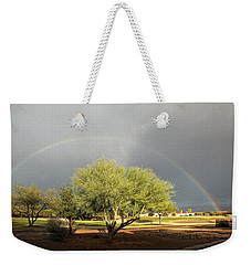 The Rain And The Rainbow Weekender Tote Bag by Lucinda Walter