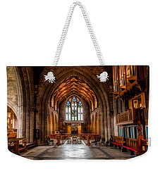 Weekender Tote Bag featuring the photograph The Reading Room by Adrian Evans
