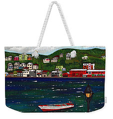 The Red And White Fishing Boat Carenage Grenada Weekender Tote Bag