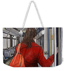 The Red Coat Weekender Tote Bag