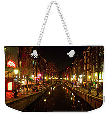 The Red Lights Of Amsterdam Weekender Tote Bag