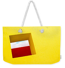 the Red Rectangle Weekender Tote Bag