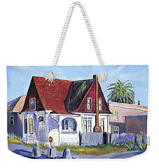 The Red Roof House Weekender Tote Bag by Asha Carolyn Young
