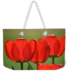 The Red Tulips Weekender Tote Bag