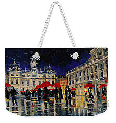 The Rendezvous Of Terreaux Square In Lyon Weekender Tote Bag