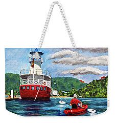Out Kayaking Weekender Tote Bag