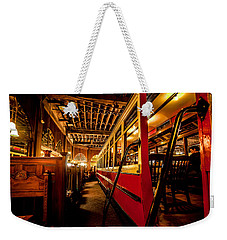 Weekender Tote Bag featuring the photograph The Restaurant Trolley  by Steven Reed
