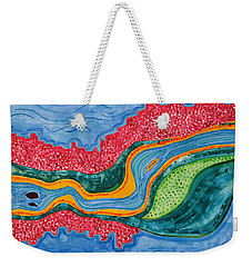 The Riffles Original Painting Weekender Tote Bag