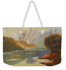 The River Flowing From A High Mountain Weekender Tote Bag