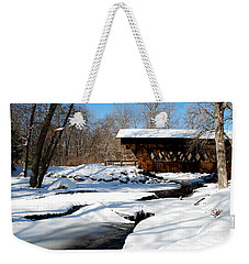 The River Flows Under The Springwater Covered Bridge Weekender Tote Bag