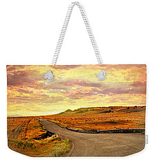 Weekender Tote Bag featuring the photograph The Road Less Trraveled Sunset by Marty Koch