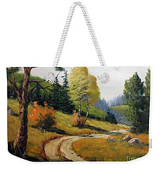 The Road Not Taken Weekender Tote Bag