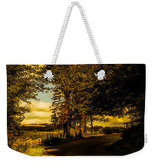 Weekender Tote Bag featuring the photograph The Road To Litlington by Chris Lord