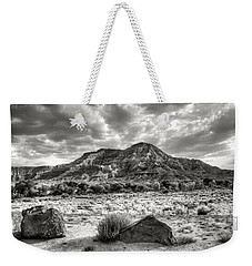 The Road To Zion In Black And White Weekender Tote Bag by Tammy Wetzel