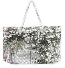 The Rose Arbor Weekender Tote Bag by Elaine Teague