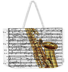 The Saxophone Weekender Tote Bag