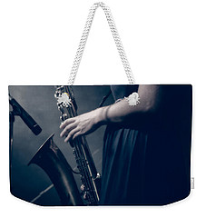 The Saxophonist Sounds In The Night Weekender Tote Bag