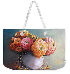 Weekender Tote Bag featuring the painting The Scent Of Flowers by Vesna Martinjak