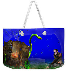 Weekender Tote Bag featuring the digital art The Scent Of The Girl  by Liane Wright