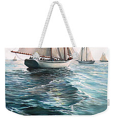 The Schooners Weekender Tote Bag by Eileen Patten Oliver