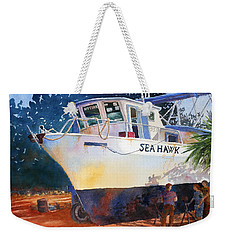 The Sea Hawk In Drydock Weekender Tote Bag