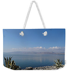 The Sea Of Galilee At Capernaum Weekender Tote Bag
