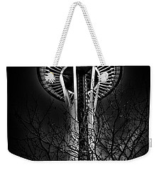 The Seattle Space Needle At Night Weekender Tote Bag