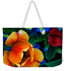 Weekender Tote Bag featuring the photograph The Secret Life Of Tulips by Rory Sagner