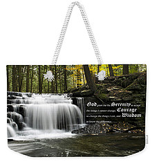 The Serenity Prayer Weekender Tote Bag by Christina Rollo