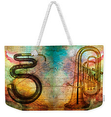The Serpent And Euphonium -  Featured In Spectacular Artworks Weekender Tote Bag by EricaMaxine  Price