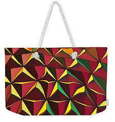 Weekender Tote Bag featuring the photograph Shapes Of Color by Kellice Swaggerty