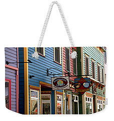 Weekender Tote Bag featuring the photograph The Shops In Crested Butte by RC DeWinter