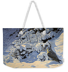 The Short Eared Owls Flew In Weekender Tote Bag