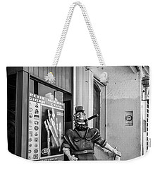 The Sidewalk Humidor  Weekender Tote Bag by Melinda Ledsome