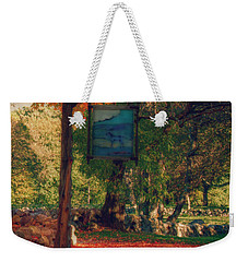 The Sign Of Fall Colors Weekender Tote Bag by Jeff Folger