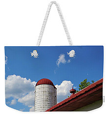 Weekender Tote Bag featuring the photograph The Silo by Jean Goodwin Brooks