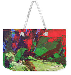 Weekender Tote Bag featuring the painting The Sky by Donald J Ryker III