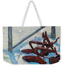 The Snow Plow Weekender Tote Bag