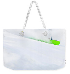 The Snowboarder And The Snow Weekender Tote Bag