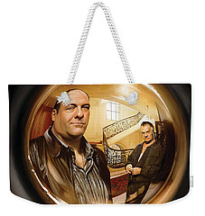 Weekender Tote Bag featuring the painting The Sopranos  Artwork 1 by Sheraz A