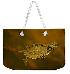 The Southeastern Map Turtle Weekender Tote Bag by Kim Pate